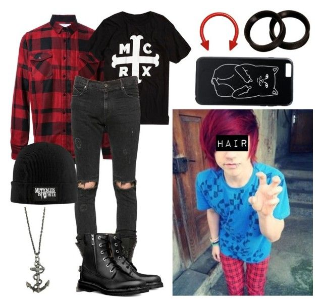 Red Emo Boy Hair By Abipatterson Liked On Polyvore Featuring Sacai Rta Zara Taylor Men 39 S