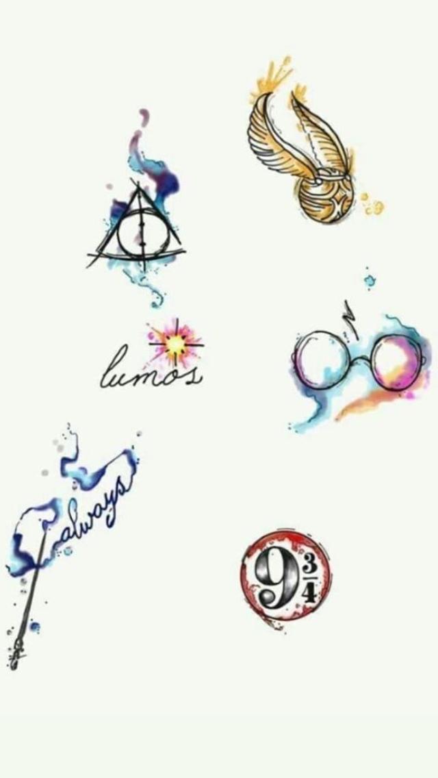 Pin Von Moi Laura Auf Dessin Kleines Tattoo Harry Potter