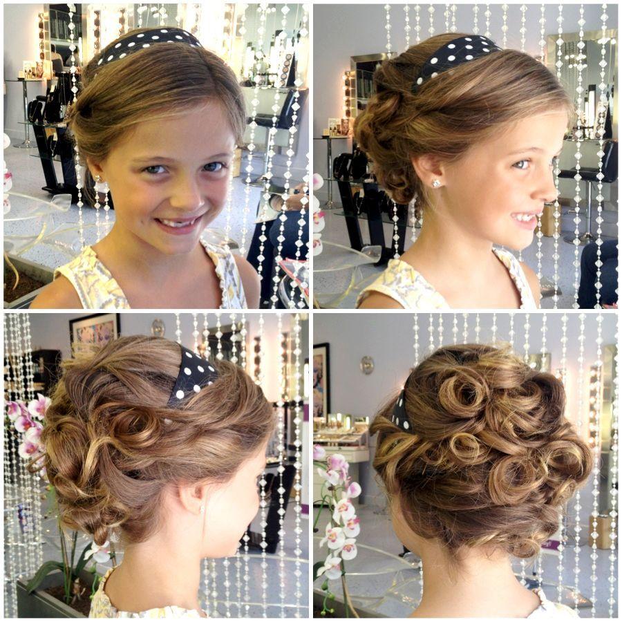 Square Face Wedding Hairstyles Corset Stylist Dalton Created An Amazing Flower Girl Updo Em 2020 Penteado Para Daminhas Penteados Daminhas