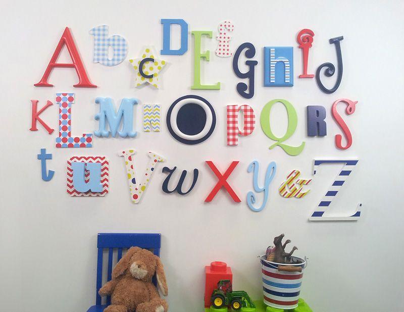 Wooden Alphabet Letters For Nursery