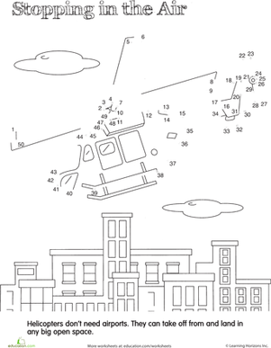 dot to dot vehicles hovering helicopter worksheets preschool transportation and word search. Black Bedroom Furniture Sets. Home Design Ideas