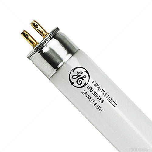 Ge 46706 F28w T5 841 Eco 28 Watt Fluorescent Tube T5 Fluorescent 4100k 800 Series Phosphors Case Of Fluorescent Tube Fluorescent Lamp 1000bulbs Com