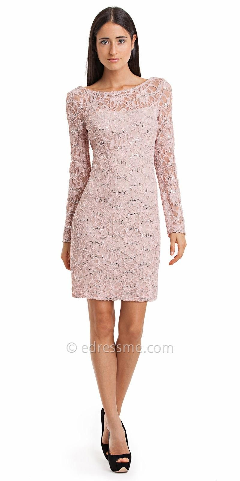 Sleeve Blush Lace Dress