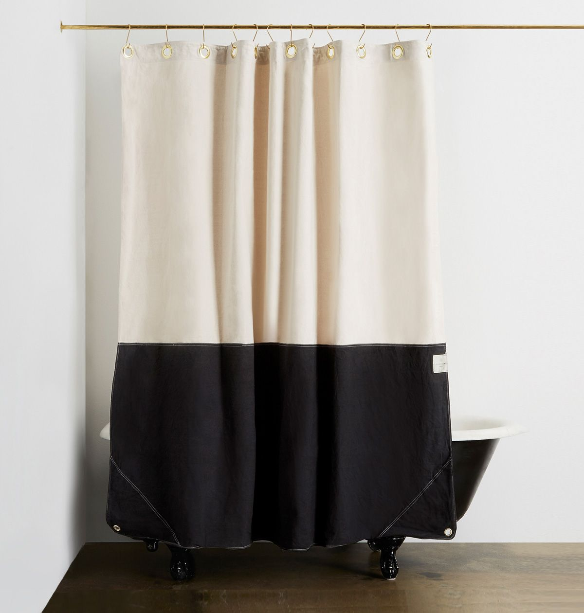 The Orient Canvas Shower Curtain