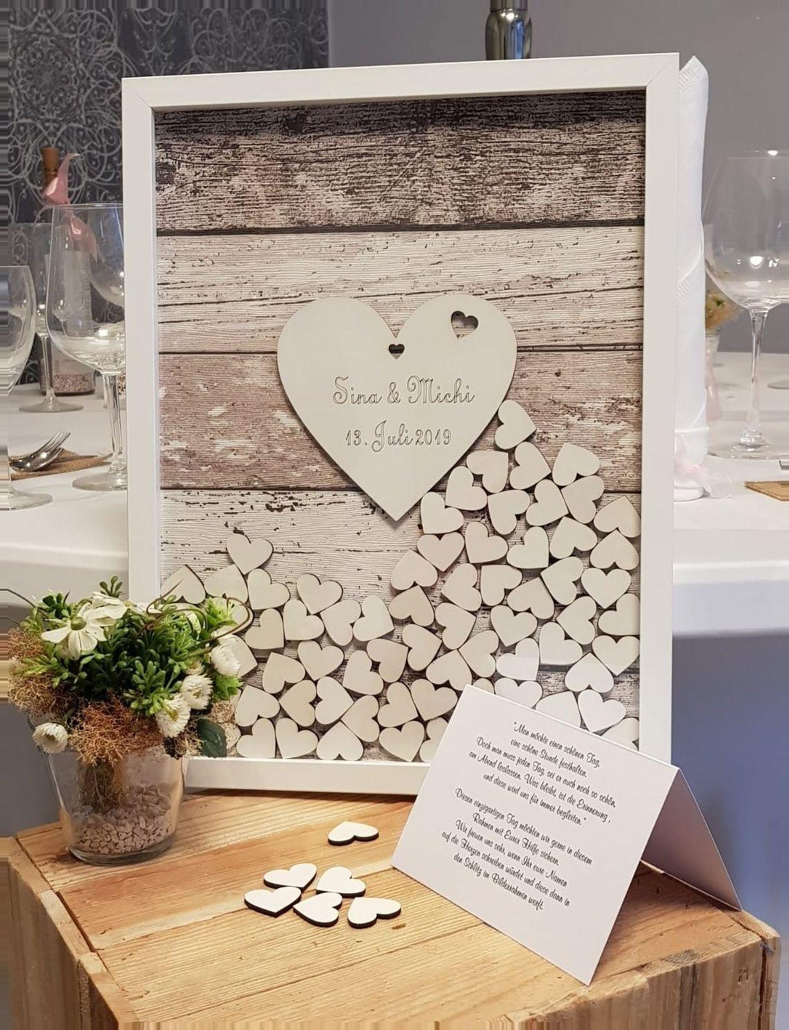 Aus Braun Gastebuch Geschenk Kaufen Gestreift Hochzeit Holzherzen Holzrahmen Mit The Effective Pictures We In 2020 Wooden Hearts Wedding Guest Book Guest Book