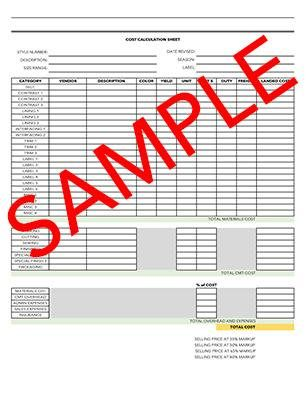ENTIRE TECH PACK plus Bonus Cost Calculations Sheet and