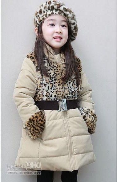 Winter  coat with leopard decor.