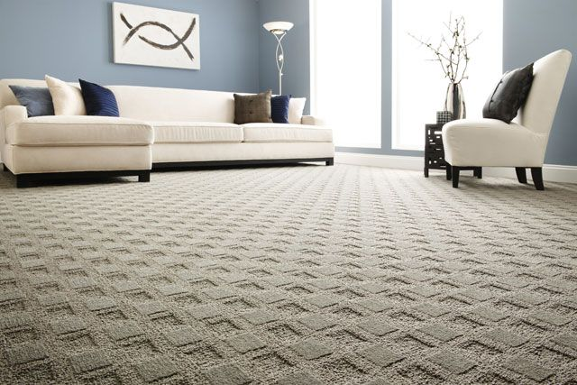 the textured surface on this carpet helps mask footprints so it's