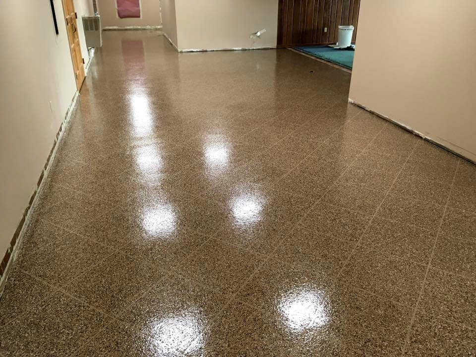 Epoxy Tile Flake Church Floor Sure