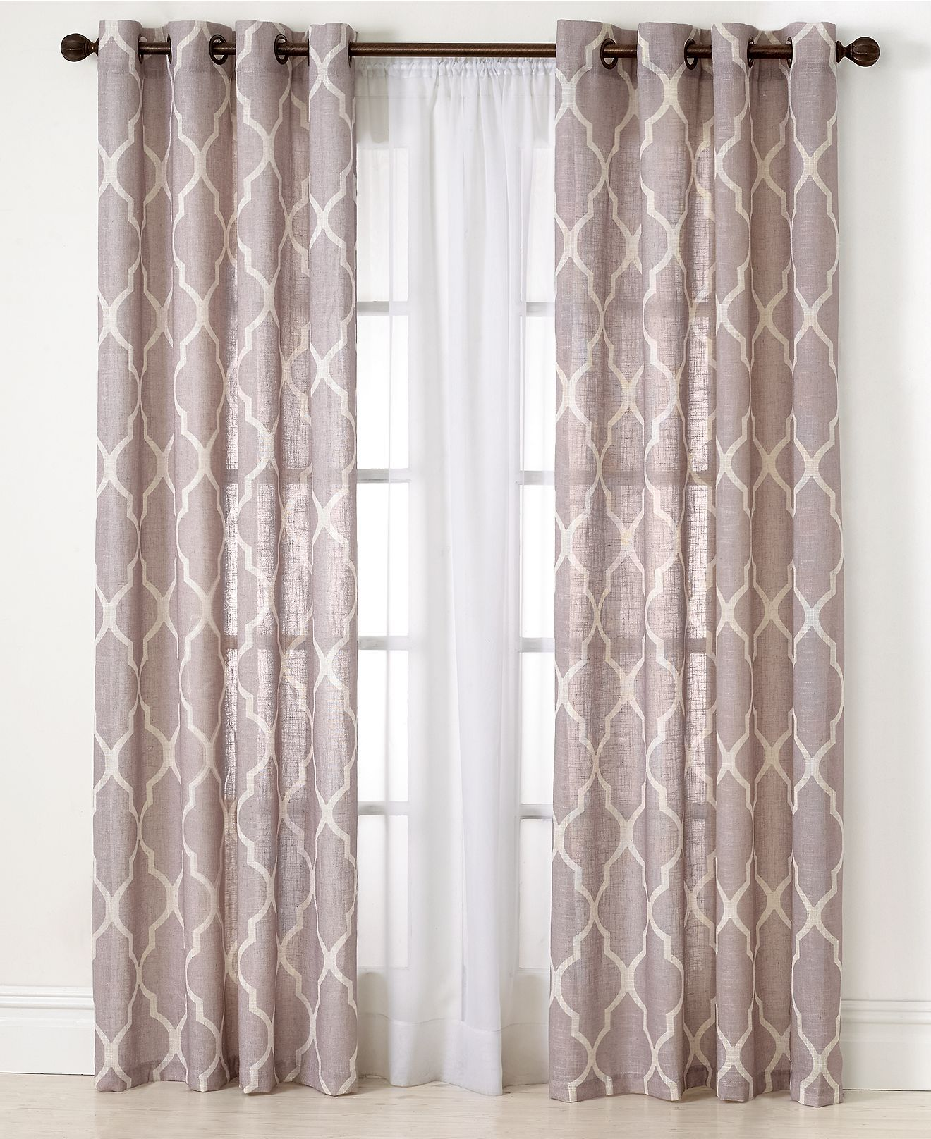 Elrene linen medalia curtain panels window collection and fashion
