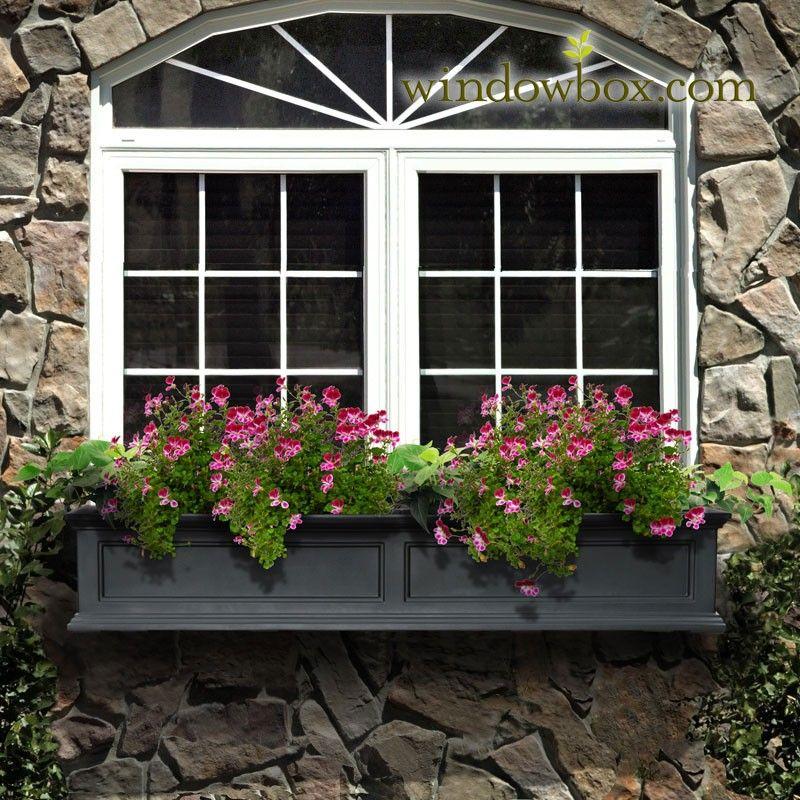 Prestige Window Box Black Window Box Window Planters Window Planter Boxes