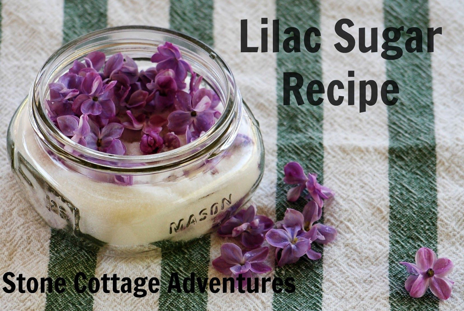 Stone Cottage Adventures: Lilac Sugar Recipe and the Earth Day Blog Hop