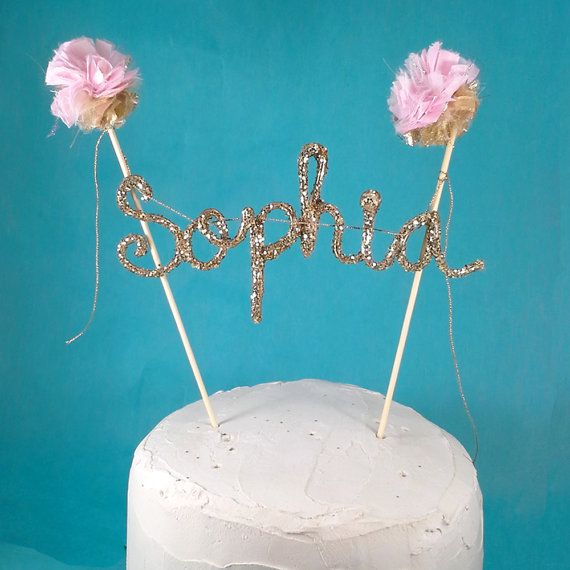 Make your own Cake banner smash cake pink gold by Hartranftdesign