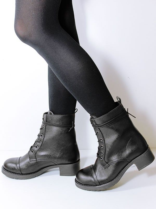 Vegan Vegetarian Non-Leather Womens Aviator 2 Boots in Black. PETA ...