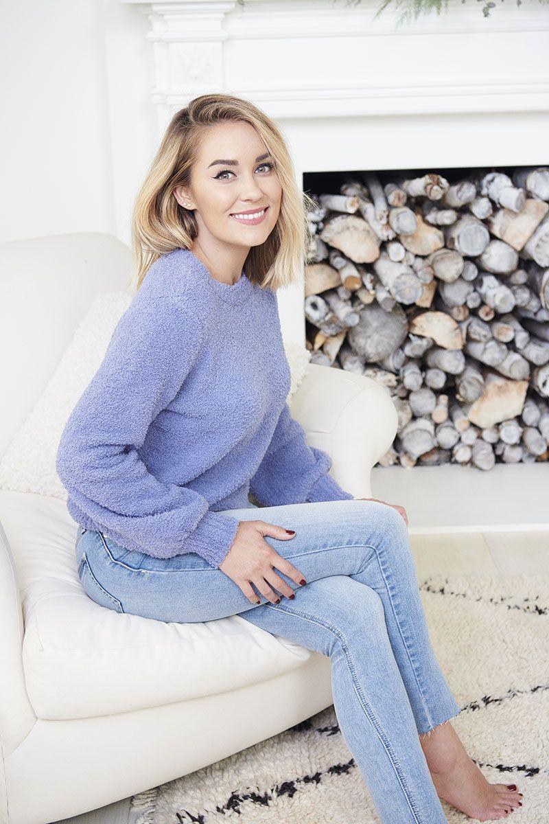Lauren Conrad wearing an LC Lauren Conrad Fuzzy Sweater