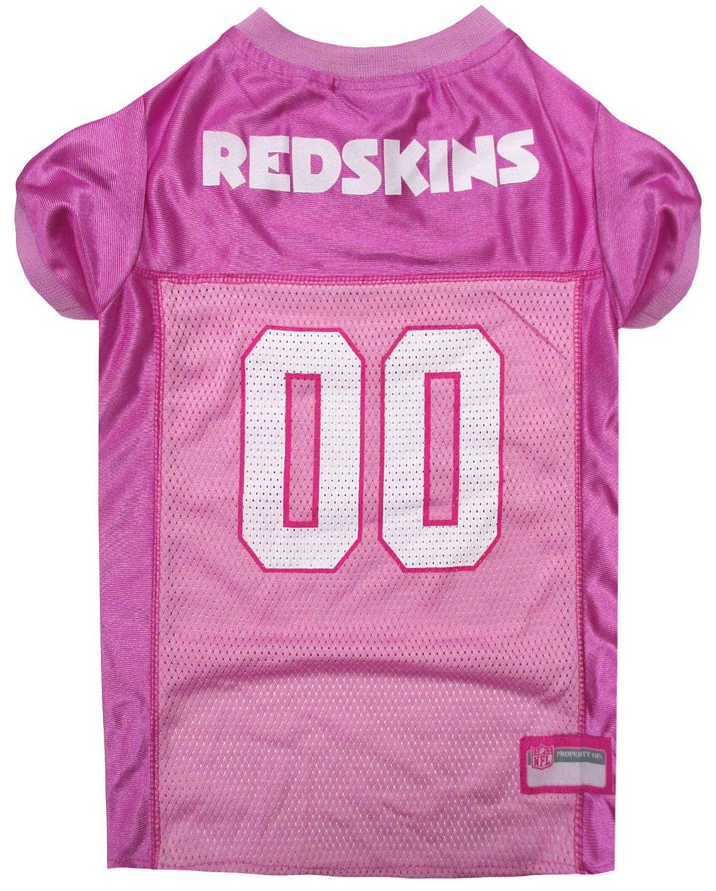 Washington Redskins Pet Mesh Football Jersey in Pink  79fae722d
