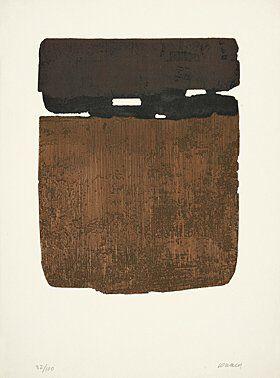 "Pierre Soulages    (geb. 1919 Rodez)    ""Eau-forte XXVI""    Farbradierung 1974    76 x 56,3 cm"