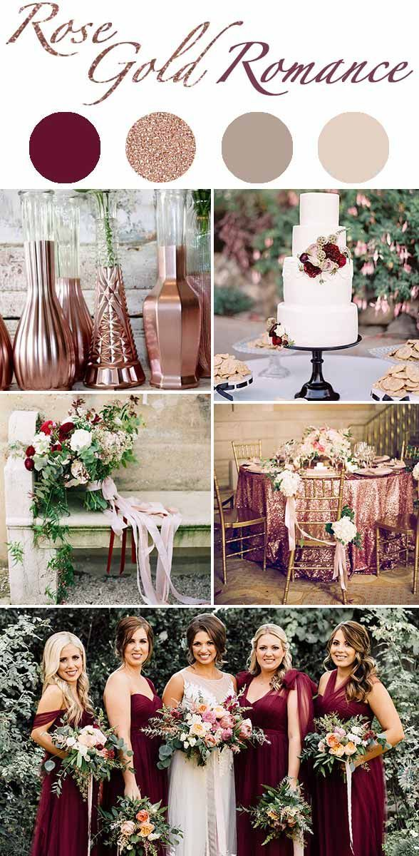 Rose Gold Romance Perfect Winter Wedding Color Schemes Wedding Color Schemes Winter Winter Wedding Colors Wedding Colors