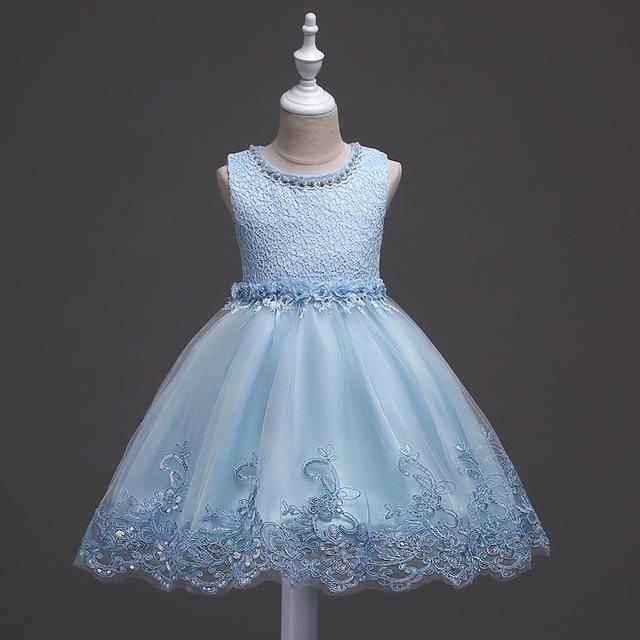 Kids Girls Lace Dress Up Tutu Dance Wear Tutu Princess Bridesmaid Party Pageant