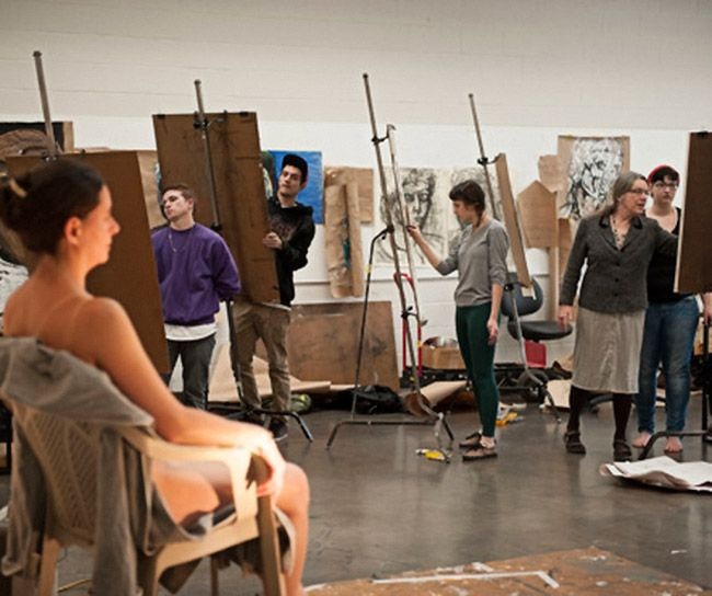 College art classes naked
