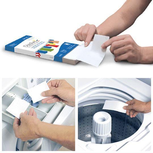 dizolve - Detergente para lavadora que viene en forma de hojas, Ahorra un 94% de polución porque ocupa mucho menos espacio al transportarse