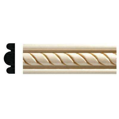 1831 1 2 In X 1 3 8 In X 96 In White Hardwood Embossed Rope Detail Moulding Ornamental Mouldings 1831 1 Ornamental Mouldings Mouldings Decorative Mouldings