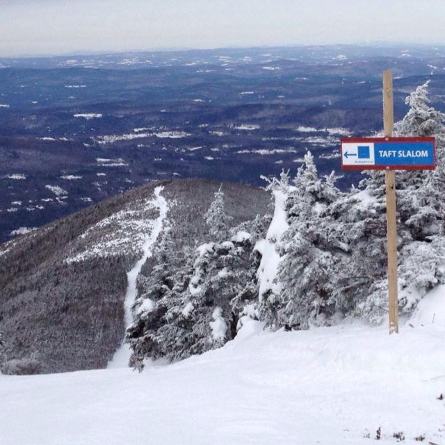 Taft slalom ski trail at Cannon Mountain