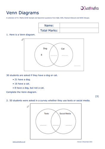 2 set venn diagram homeworkpdf maths statistics and data 2 set venn diagram homeworkpdf ccuart Image collections