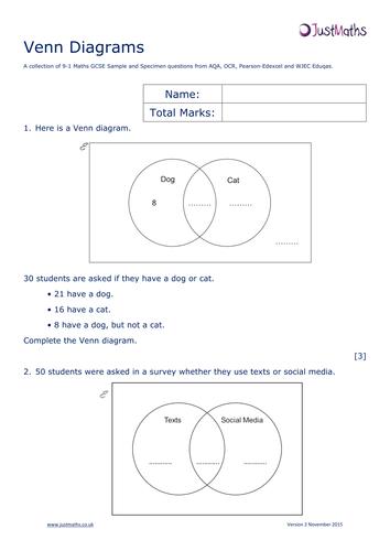 Set Notation Venn Diagrams Bbc Bitesize Electrical Work Wiring
