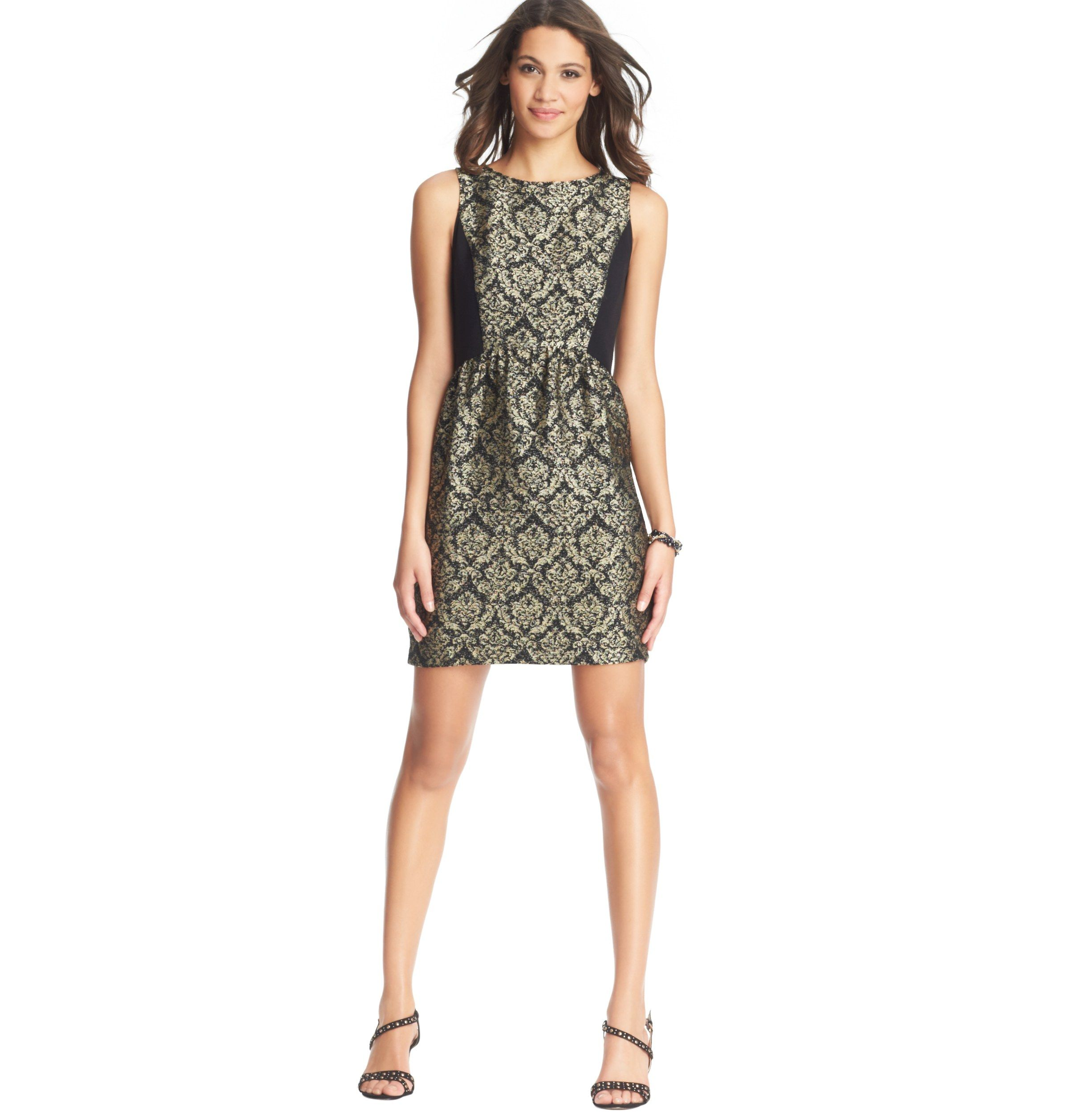 Colorblocked Jacquard Sleeveless Dress | Loft | Holiday Attire ...