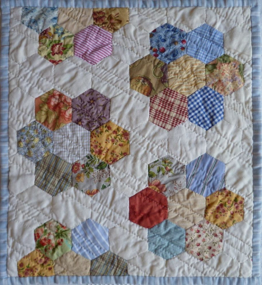 how to hand quilt a hexagon quilt