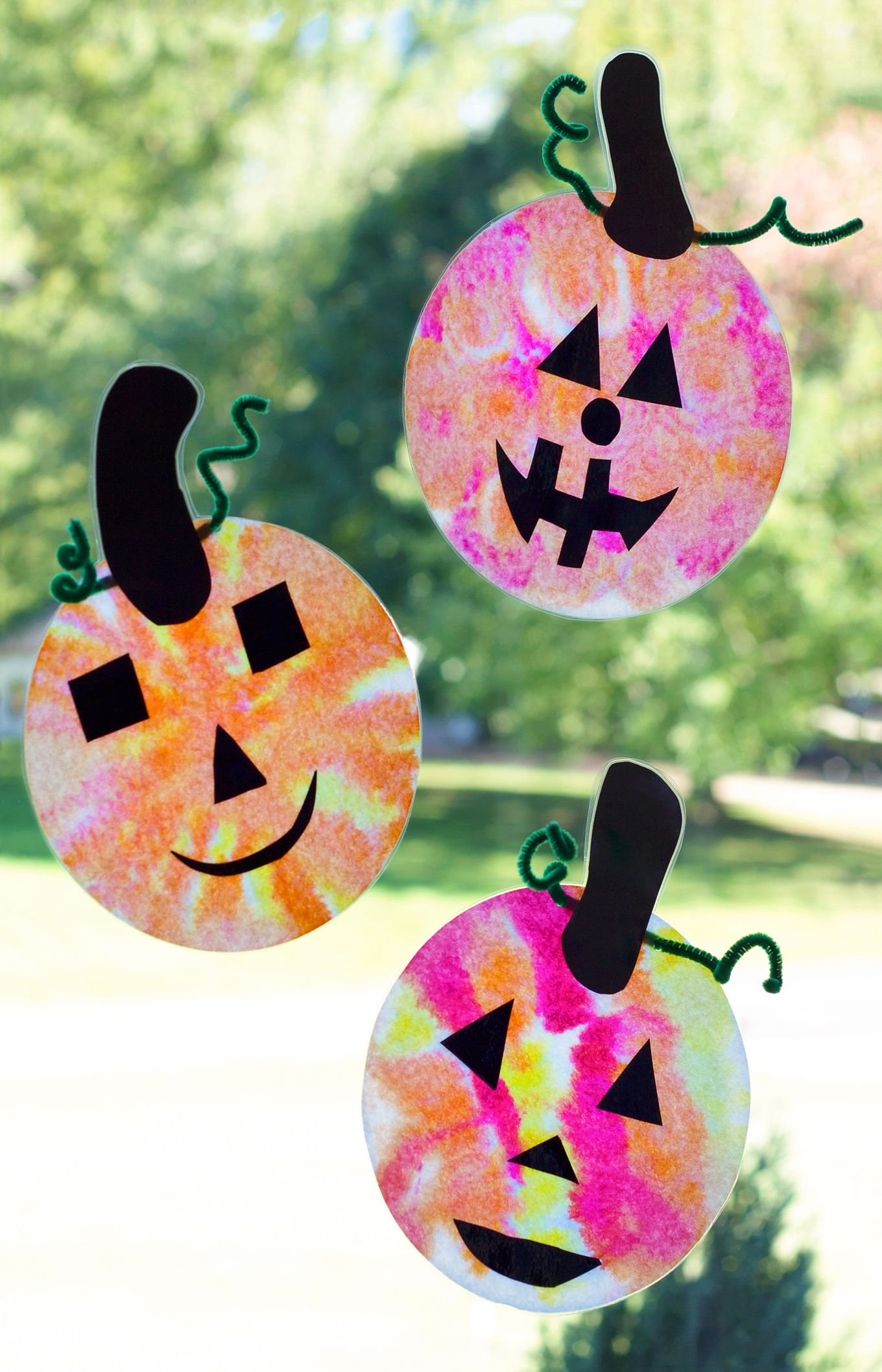 Adorable Coffee Filter Jack O Lantern Suncatchers Halloween Kids