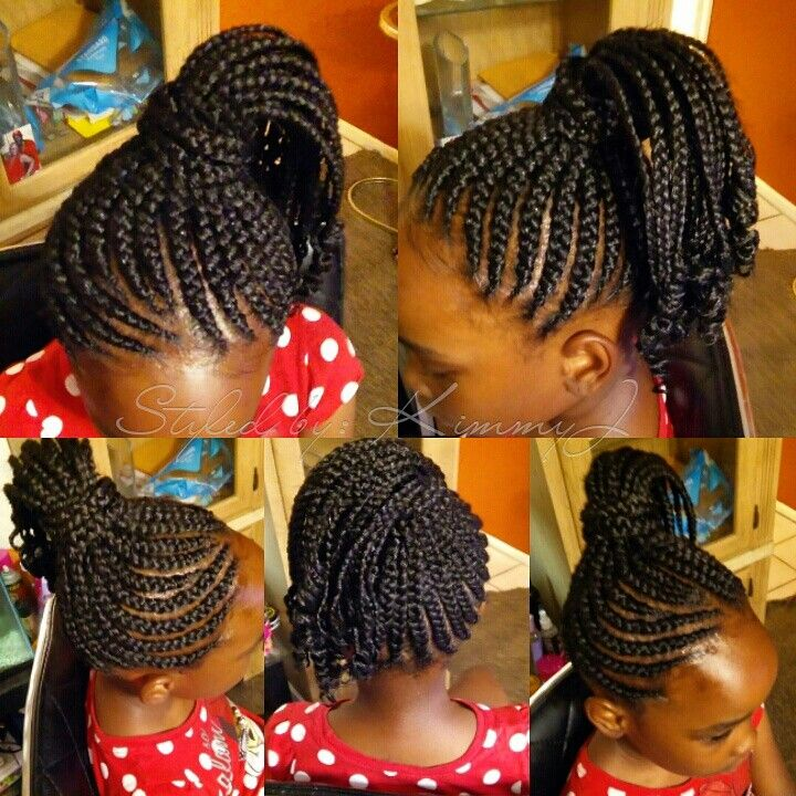 Curly braids for kids