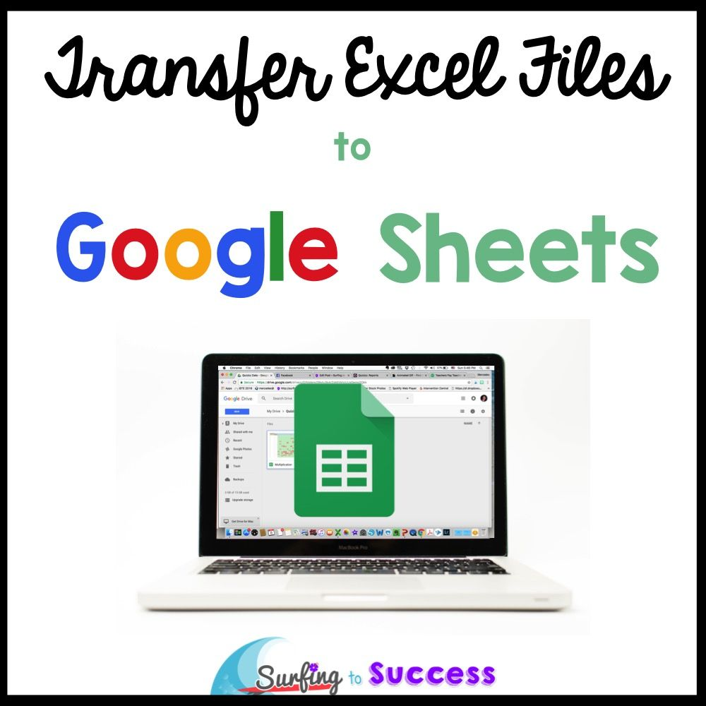 Transfer Excel Files to Google Sheets Google sheets