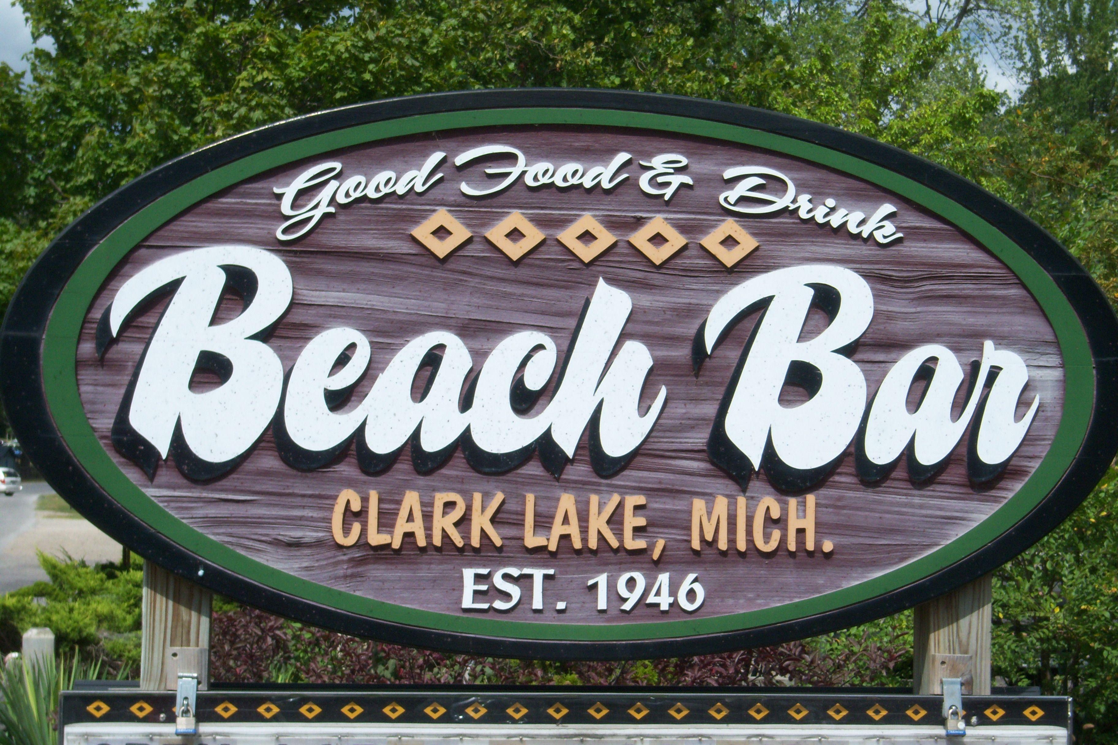 Beach Bar Clarklake Michigan Best French Dip Sandwich Great Place
