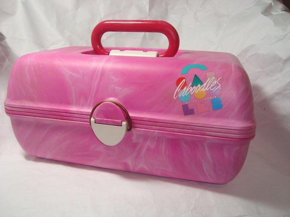 Vintage Caboodles Purple Pink Large Makeup Case Organizer 26