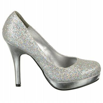d8e696622f8f Silver sparkly shoes for a navy blue cocktail dress