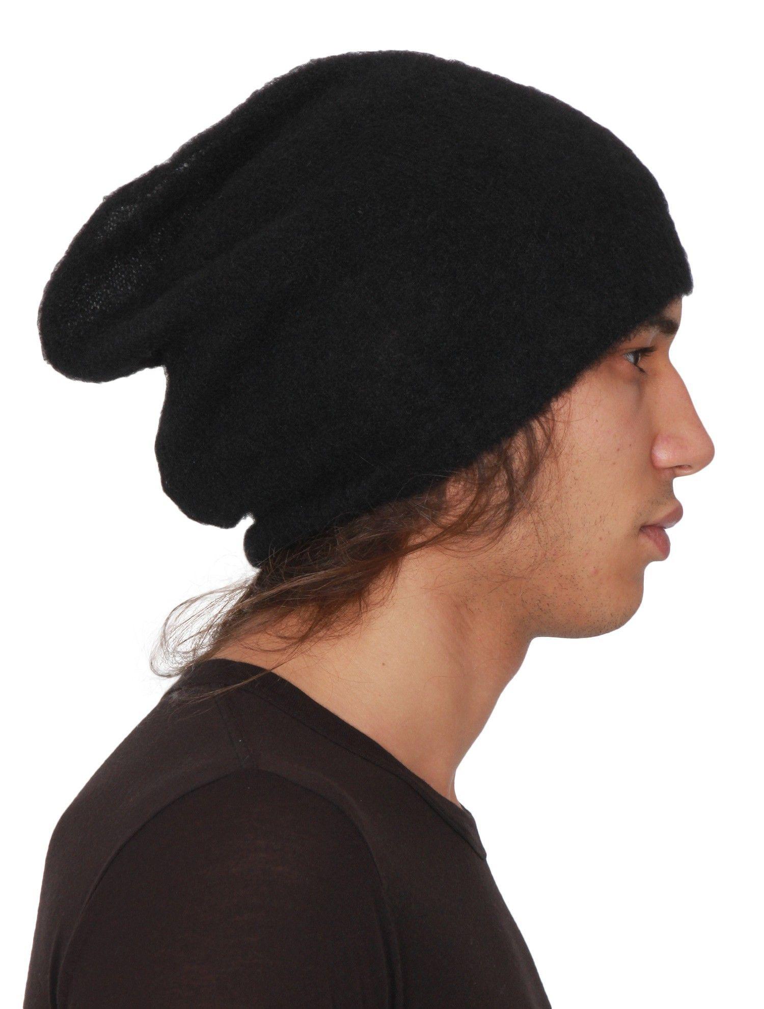 4870f3264a1e3 RICK OWENS  Big Hat  Men s Boiled Mohair Beanie - Black - serie ...
