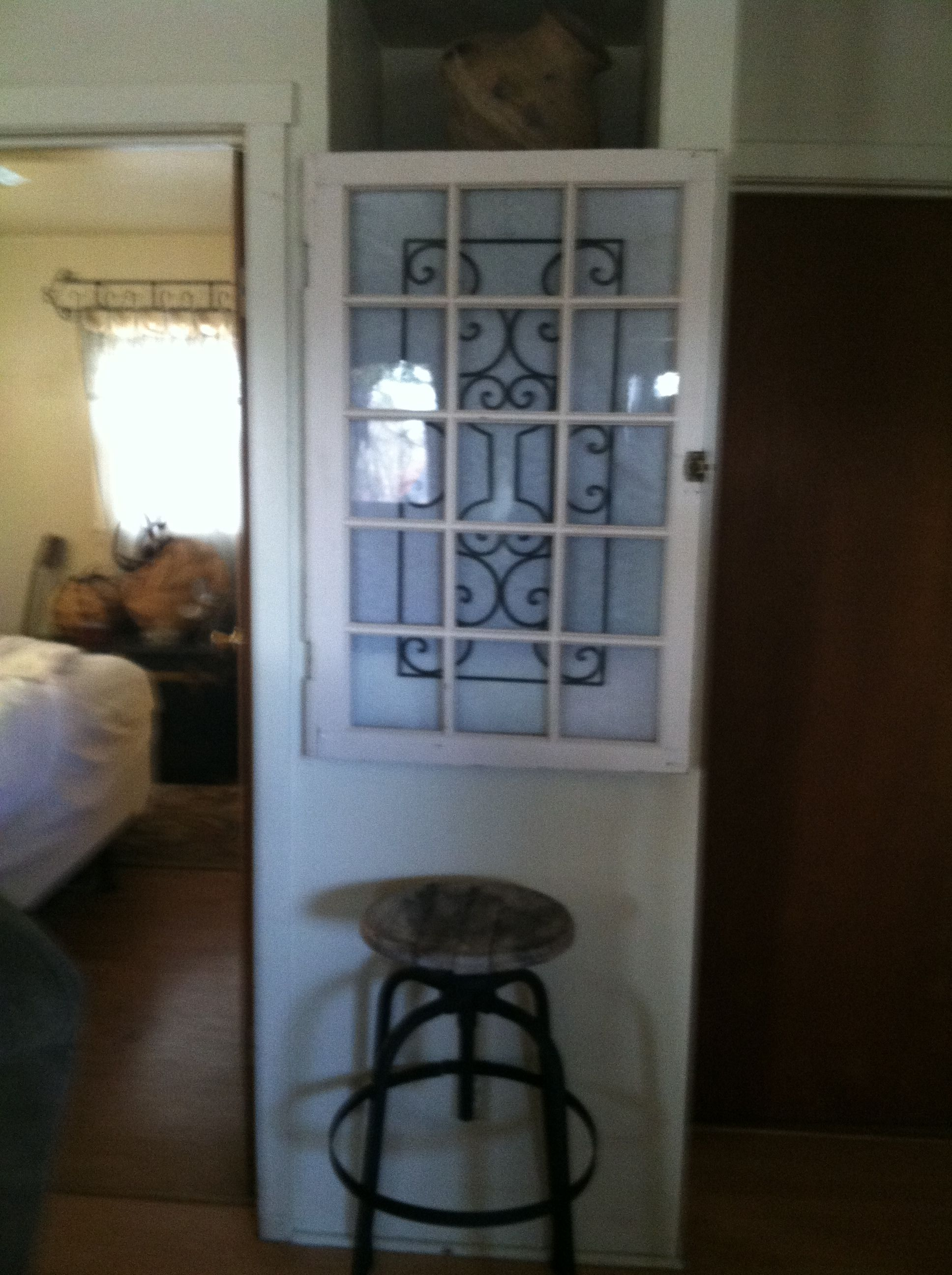 Old window covering old built ins repurposed pinterest built ins