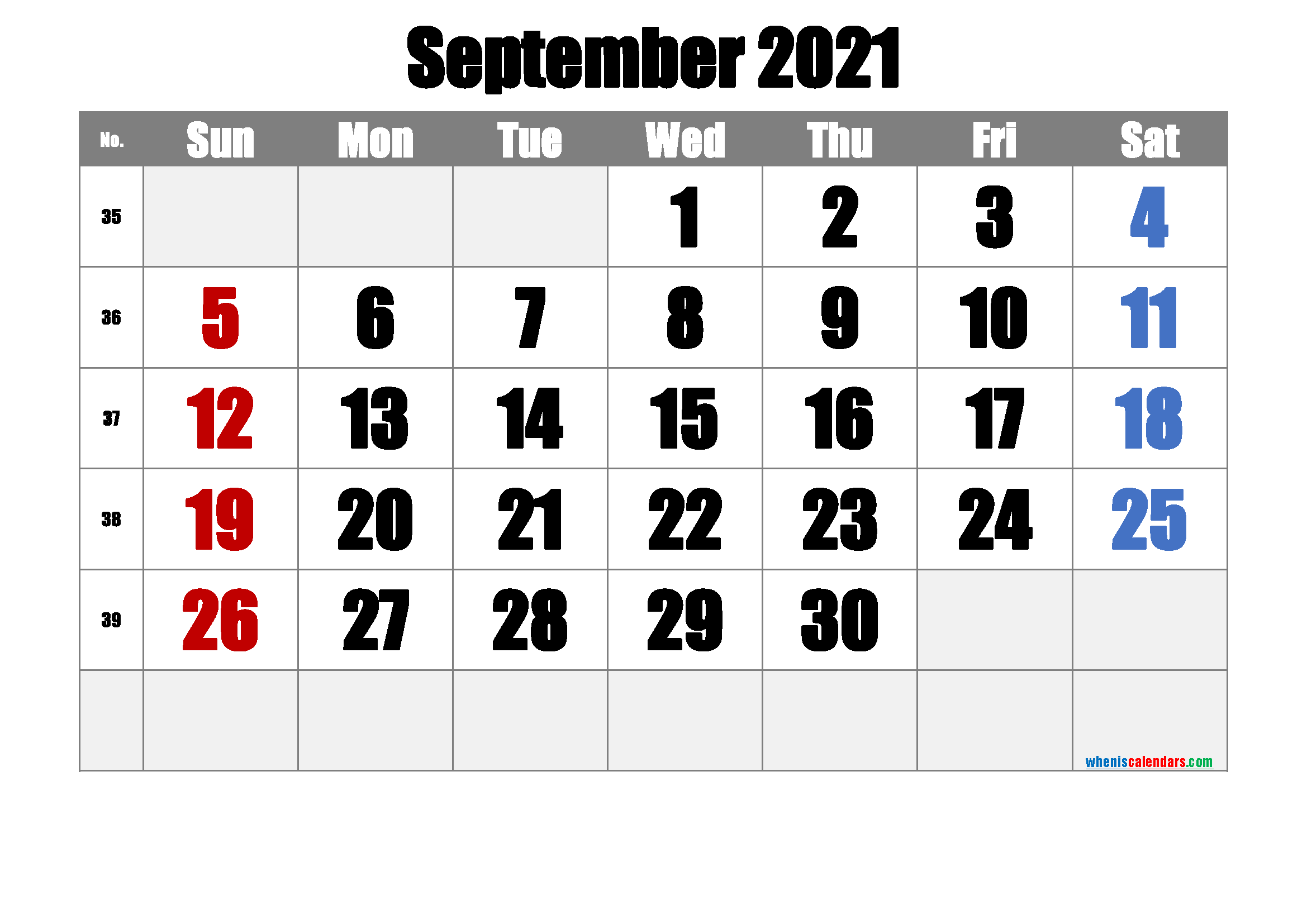 Free Printable September 2021 Calendar Premium In 2020 Calendar Printables 2021 Calendar Printable Calendar Template