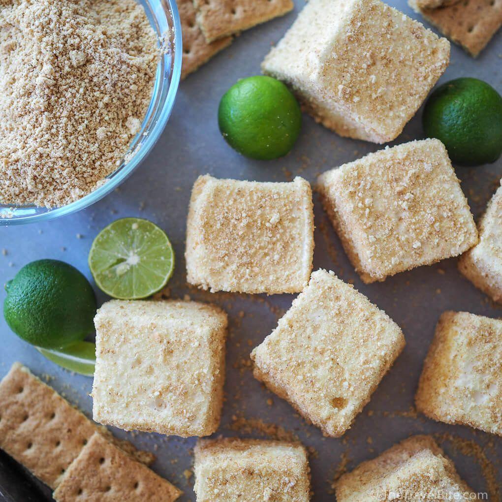 Key Lime Pie Marshmallows #flavoredmarshmallows
