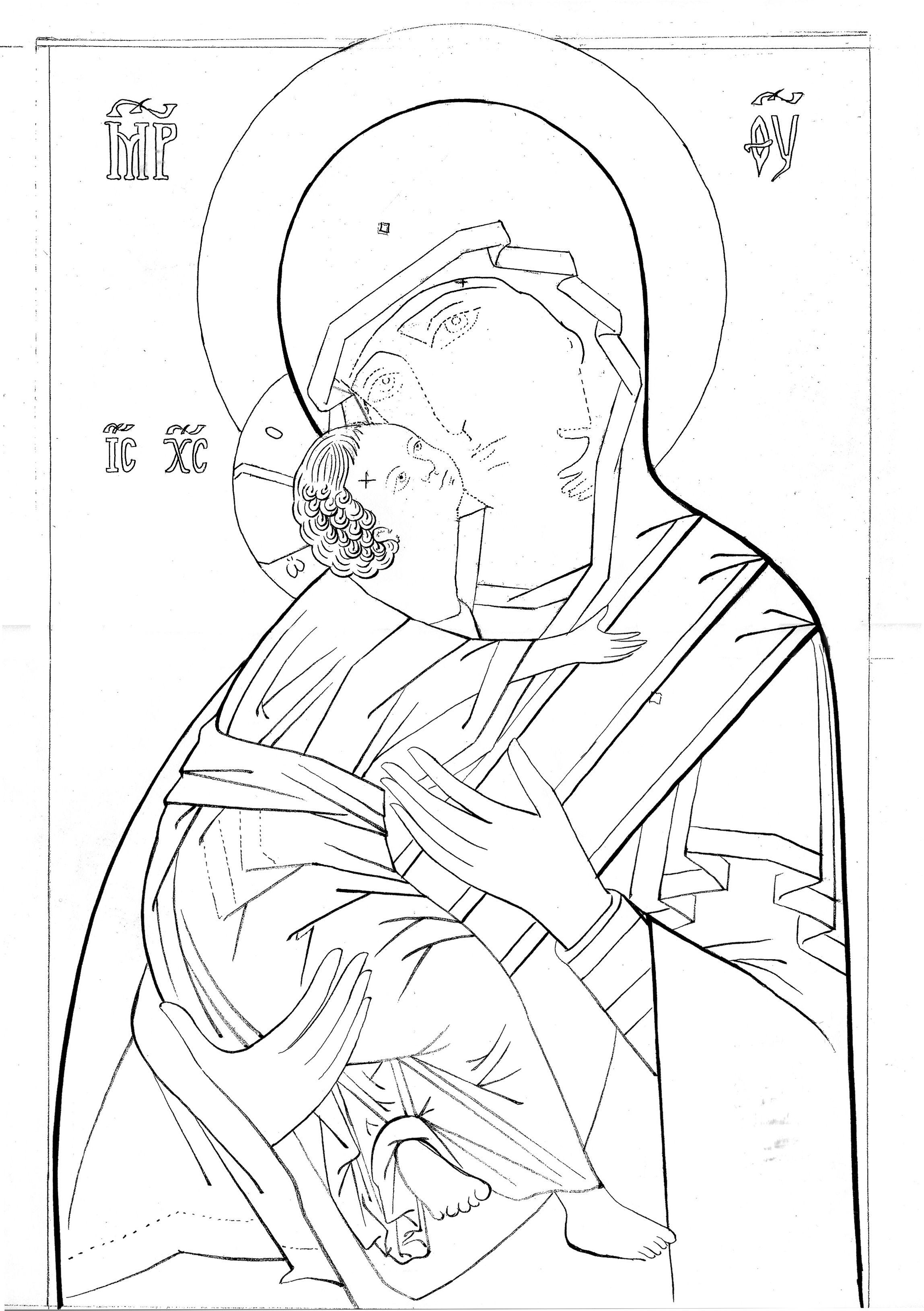 Risultati Immagini Per Disegno Madonna Della Tenerezza Vladimir
