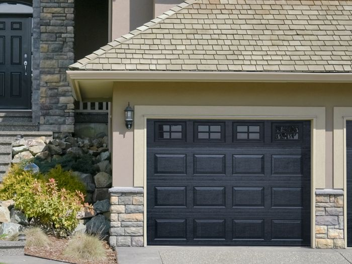 Haas 600 Residential Series Garage Doors   Cool Black