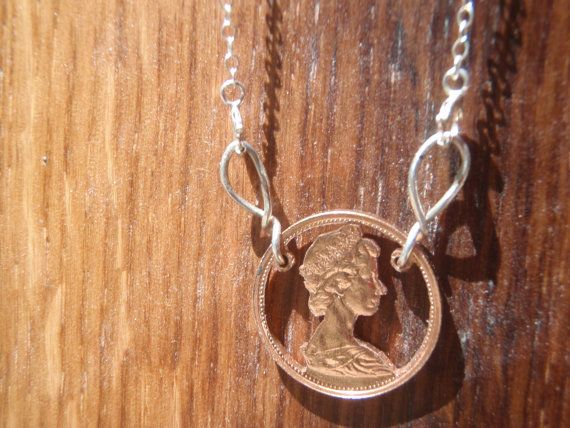 Canadian Penny Cut Coin Necklace