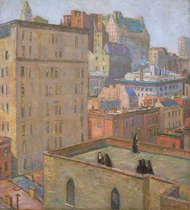 """Nuns on the Roof"" by Marjorie Phillips, 1922"