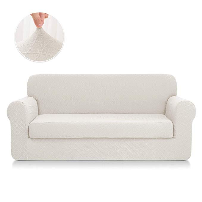 Amazon Com Chun Yi 2 Piece Stretch Polyester And Spandex Rhombus Jacquard Sofa Slipcovers Durable Soft Sofa Slipcovered Sofa Couch Covers Slipcovers