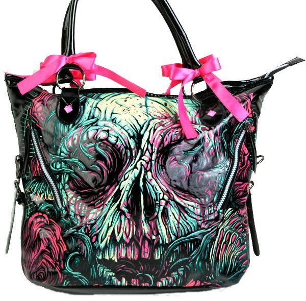 Details about Iron Fist Santeria Voodoo Hand-bag Purse Bag Goth ... 4d196f007f84f