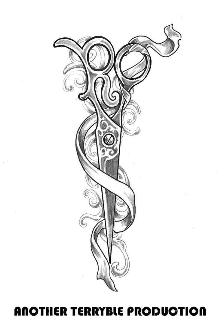 Ricky S Scissor By Terryrism On Deviantart Scissors Tattoo Hair Scissor Tattoos Stylist Tattoos