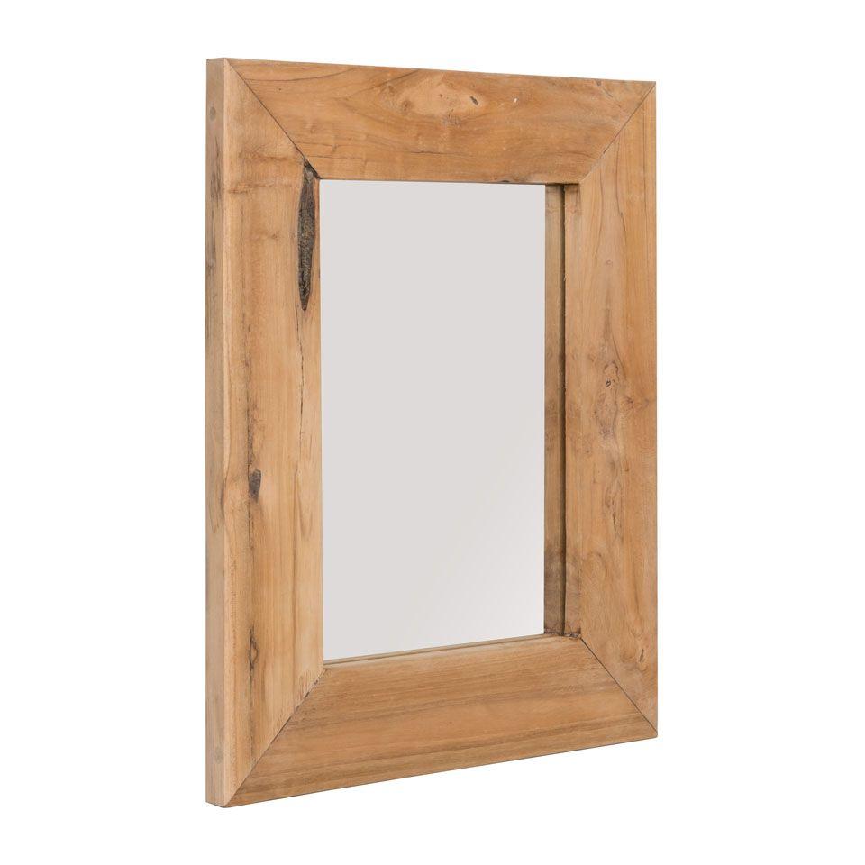 Spiegel teakhouten lijst 50x40 cm xenos h a l l w a for Spiegel xenos
