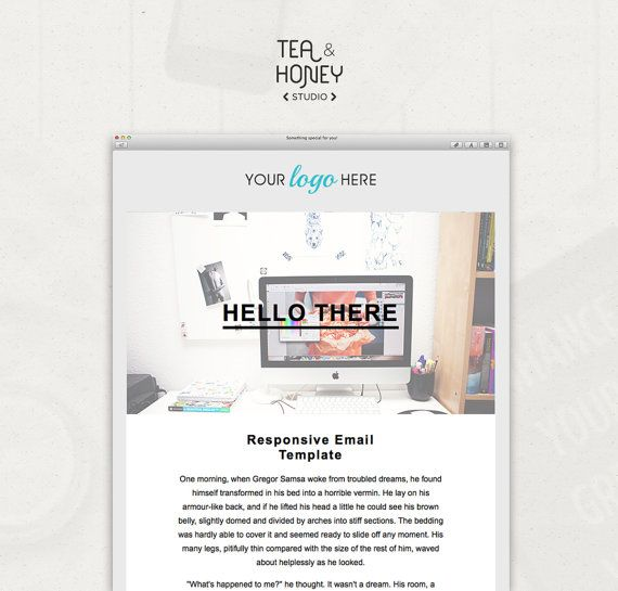 HTML Email Template Mailchimp Newsletter Design Resposive HTML - Promotional email template